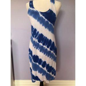 Calvin Klein blue tie dye dress